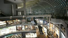 Inside marina bay shopping mall at night, Singapore Stock Footage