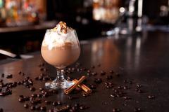Chocolate drink on a bar Stock Photos