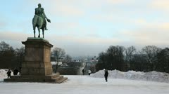 View from the Royal Palace, Oslo Norway Stock Footage