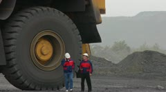 Stock footage large dump truck working in a quarry Stock Footage