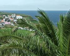 Coastal scenery at the azores Stock Photos