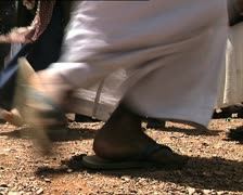 YEMEN ritual dance feet det Stock Footage