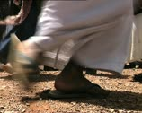 YEMEN ritual dance feet det Stock Footage