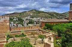 la alhambra in granada, spain - stock photo
