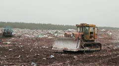 tractor and garbage - stock footage