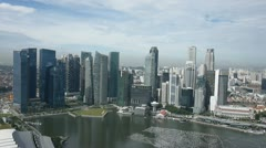 Singapore downtown financial district buildings Stock Footage
