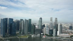 Singapore downtown office buildings and towers Stock Footage