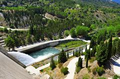 Stock Photo of dam of siurana reservoir in tarragona province, spain