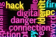Digital danger connection Stock Illustration