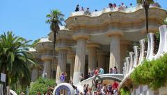 Park Guell in Barcelona - stock footage