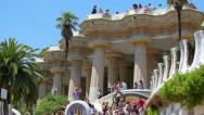 Stock Video Footage of Park Guell in Barcelona, Spain