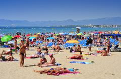 Llevant beach, in salou, spain Stock Photos