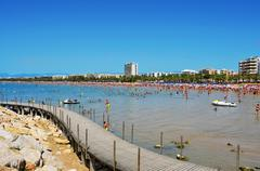 llevant beach, in salou, spain - stock photo