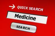 Search for medicine Stock Illustration