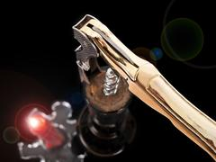 wine, corkscrew, candle... - stock photo