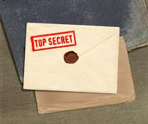 Top secret envelope Stock Photos