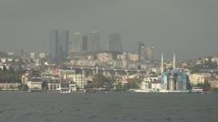 Drive plate - Bosphorus Straits, Istanbul skyline Stock Footage