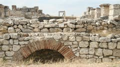 Ruins of roman theater in Azanoi, Turkey Stock Footage