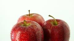 Three apples rotating Stock Footage