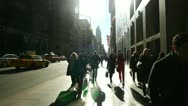 Stock Video Footage of Crowd of people walking backlight in New York City slow motion