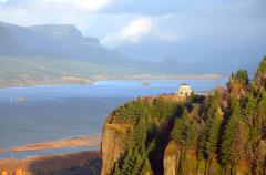Vista House at crown Point Oregon. Stock Photos