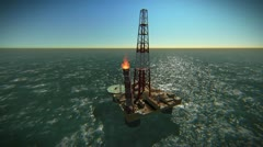 Oil Platform Stock Footage