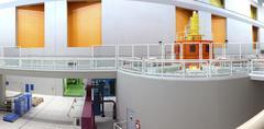 Interior of a power plant. Stock Photos