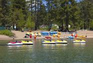 Stock Photo of rental equipment on lake tahoe, ca.