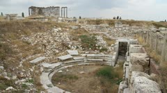 Ruins of roman theater Stock Footage