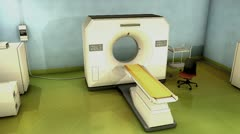 CT Scanner room, hospital, technology, diagnosis, scan. Stock Footage