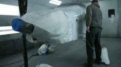 Airplane getting prepeped for paint. Stock Footage