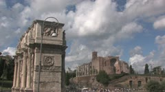 Arch of Constantine Stock Footage