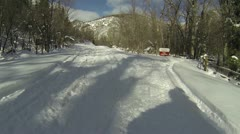 Snowmobile winter recreation Uinta National Forest HD 003 Stock Footage