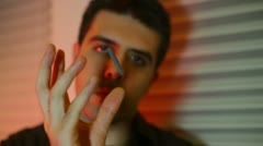 Psychic psychic powers telekenises tk Stock Footage