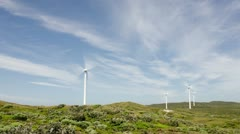 Wind Turbines At A Wind Farm Time Lapse - Renewable Energy Stock Footage