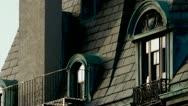 Victorian Mansion Windows Stock Footage