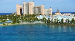 Time Lapse of Atlantis Resort in the Bahamas - stock footage