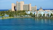 Stock Video Footage of Time Lapse of Atlantis Resort in the Bahamas