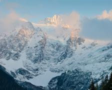 Sunlit Peak.jpg - stock photo