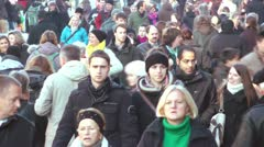 Crowd of People Slow Motion Stock Footage