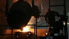 Hard Work In Foundry - stock footage