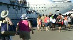 Time Lapse of Bahamas Cruise Ship Port Stock Footage
