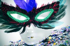 Stock Photo of feathers carnival mask