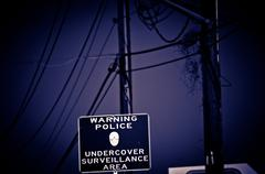 Police Surveillance Sign Stock Photos