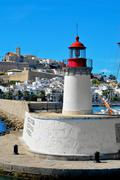 Sa penya and dalt vila districts in ibiza town, balearic islands, spain Stock Photos