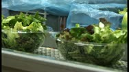 Stock Video Footage of take away salad on assembly line