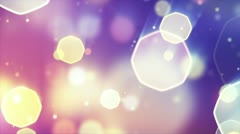 Delicate octagon bokeh lights seamless loop background Stock Footage