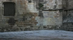Girl in old Town Barcelona Stock Footage