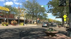 Fort Collins street 2 Stock Footage