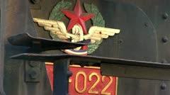Tito's blue train locomotive Stock Footage